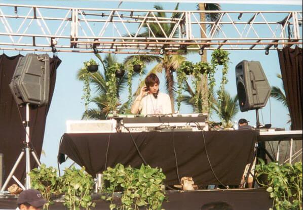 Ben Annand at Aca World Sound Fesival 2000